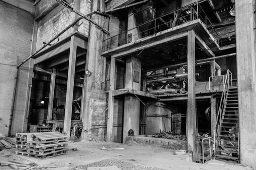 Abandoned Factory, Old, Industrial, Abandoned, Factory