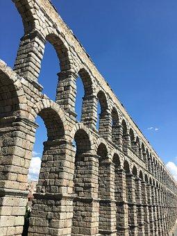 Monument, Aqueduct, Segovia, Roman, Channel