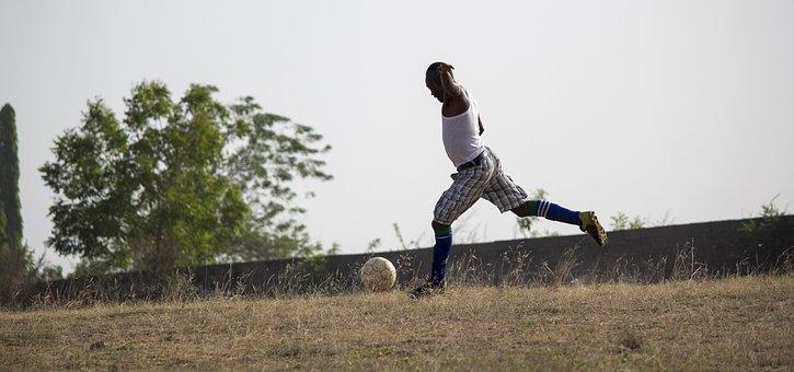Football, Player, Ball, Soccer, Game, Field