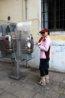 Phone, Phone Booth, Italy, Venice, Call, Dispensary