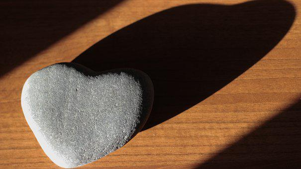 Heart, Love, Valentine, Stone, Romantic, Shadow