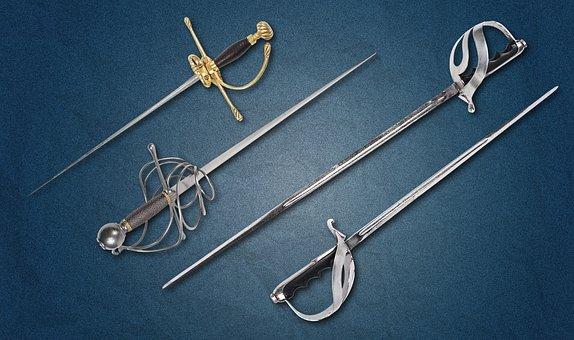 Sword, Weapons, Hilt, Blade, Steel Arms, Garda, History