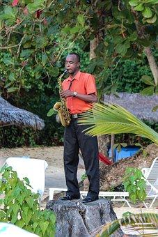 Jamaica, Saxophone, Music, Beach, Musician, Jazz, Play
