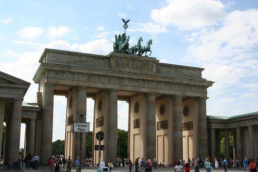 Berlin, Brandenburg Gate, Quadriga, Landmark, Goal