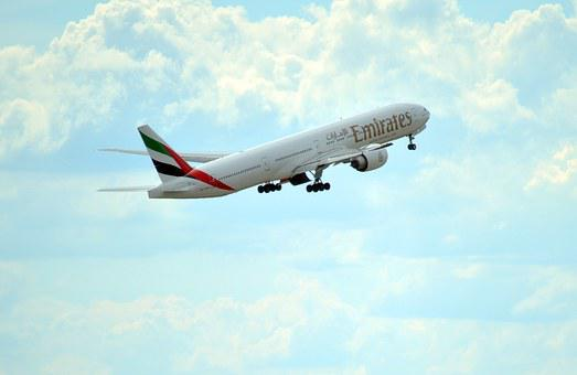 Uae, Emirates, Flight, Airlines, Airplane, Large, Big