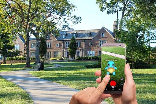 Pokemon Go, Pokemon, Street, Lawn, House, Trees, Game
