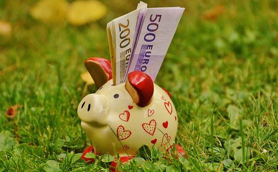 Piggy Bank, Money, Dollar Bill, 500 Euro, 200 Euro