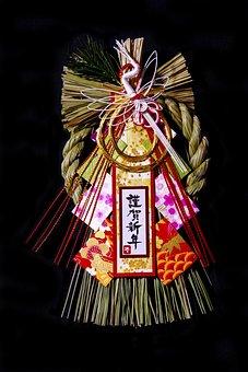 New Year's Day, Japan, Ornament, Shimekazari