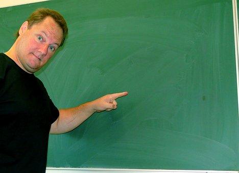 Board, Teacher, Note, Newsletter, Teaching, Chalk