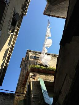 Venice, Italy, Blue, Sky, Old Town, Home, Architecture