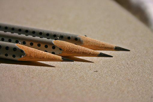 Pencils, Pen, Leave, Notes, Draw, Office Accessories