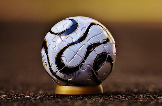 Football, Puzzle, Puzzle Ball, Play, Stand