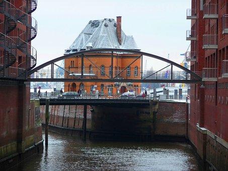 Hamburg, Castle, Speicherstadt, Architecture, Building