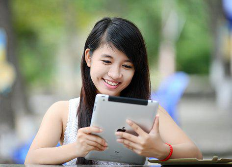 Ipad, Girl, Tablet, Internet, Technology, Computer