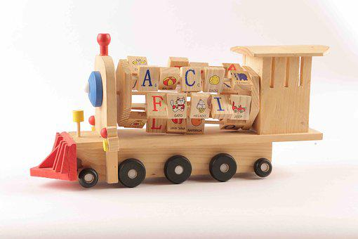 Toys, Kids, Fun, Train, Wooden, Play, Learn, Letters