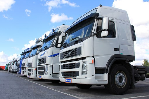 Truck, White, Vehicle, Transportation, Freight