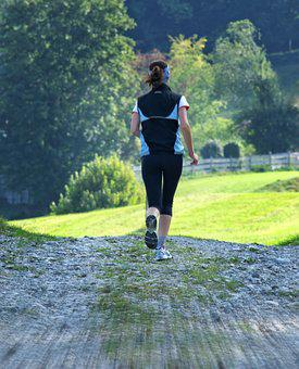 Woman, Run, Jog, Sport, Girl, Leisure, Training