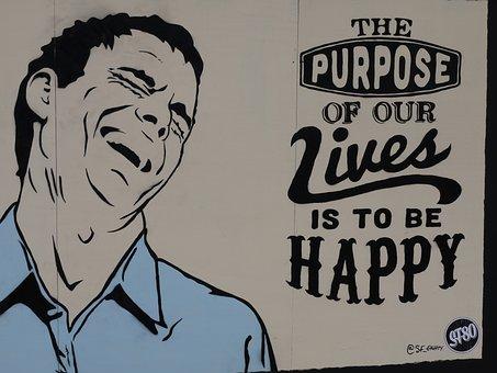 Happy, Street Art, Backdrop, Artistic, Cool, Modern