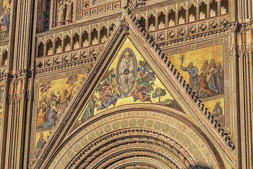 Facade, Dom, Cathedral, Detail, Italy, Gothic