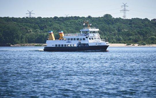 Kiel, Ferry, Kieler Firth, Laboe, Ship, Sea, Baltic Sea