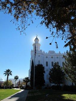 Saint George, Temple, Mormon, Utah, Worship, Faith