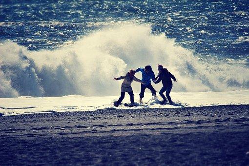 Seaside, Beach, Wave, Waves, Drowning, Disaster, Sand