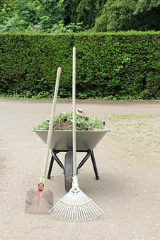 Work, Wheelbarrow, Rake, Gardening, Construction Work