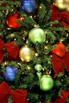 Christmas, Ball, Celebration, Winter, Tree