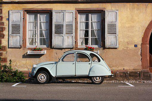 Auto, Road, Home, Window, Building, Architecture, Old