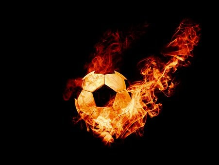 Burning, Fire, Ball, Football, Soccer, Soccerball