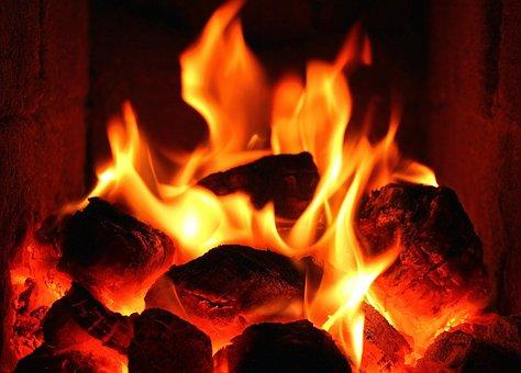 Flames, Fire, Hot, Glow, Censer, Light, Hearth, Evening