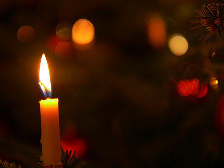 Christmas, Celebration, Flare-up, Candle, Candlelight