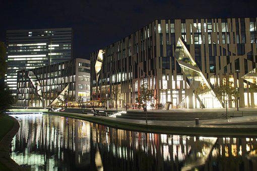 City, Architecture, Modern, Reflection, Building