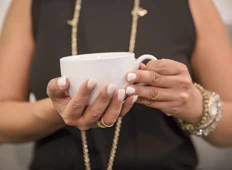 Woman, Hand, Coffee Cup, Female, Healthy, Holding, Cup