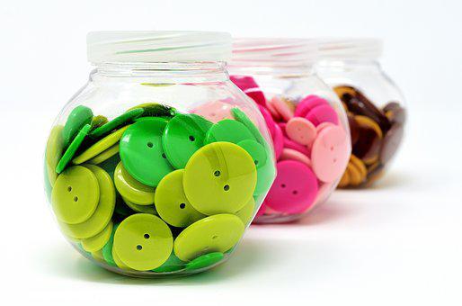 Buttons, Colorful, Color, Handarbeiten, Button, Close