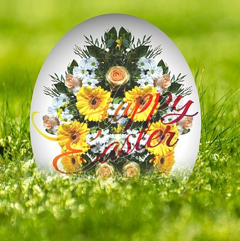 Bouquet, Easter, Egg, Easter Egg, Flowers, Spring