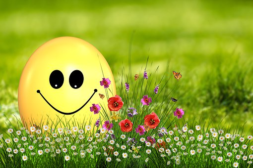 Easter, Egg, Easter Egg, Smilie, Smile, Joy, Flowers