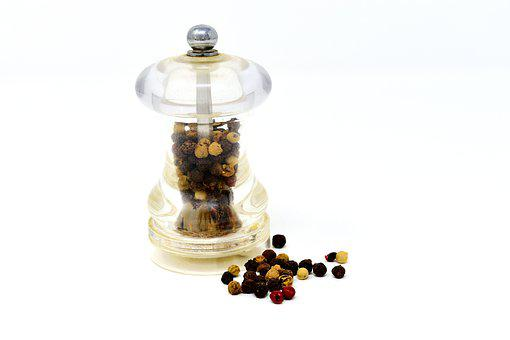 Pepper, Pepper Mill, Grind, Ground, Spices, Grains