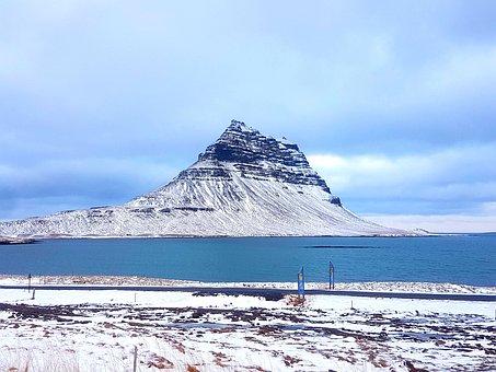 Snow, Mountain, Ice, Winter, Water, Snæfellsness