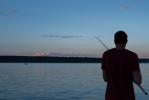 Angler, Fishing, Peca, Lake Balaton, Lake