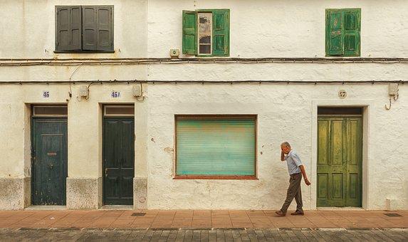 Architecture, Home, Window, Door, Building, Person, Man