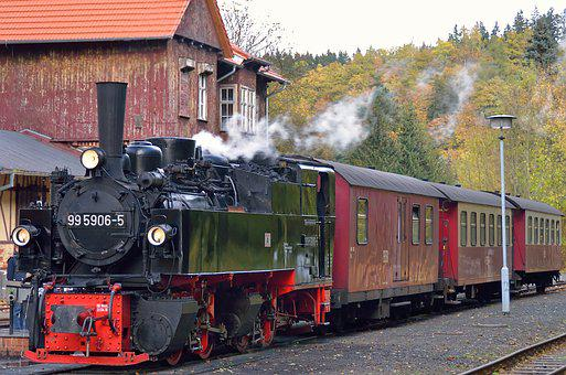 Germany, Resin, The Selketal Railway, Steam Locomotive