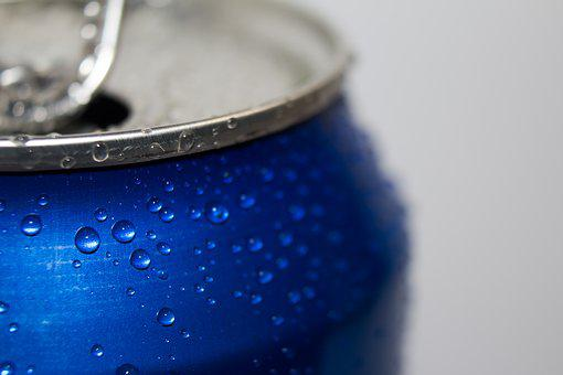 Can, Wet, Drops, Beer, The Drink, Macro, Closeup