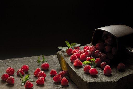 Eating, Fruit, Dessert, Appetizer, Healthy, Malina