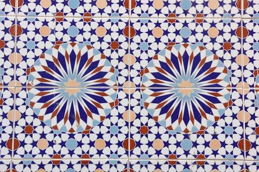 Morocco, Essaouira, Tile, Pattern, Abstract, Art