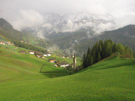 Panorama, Nature, Mountain, Landscape, Grass, La Val