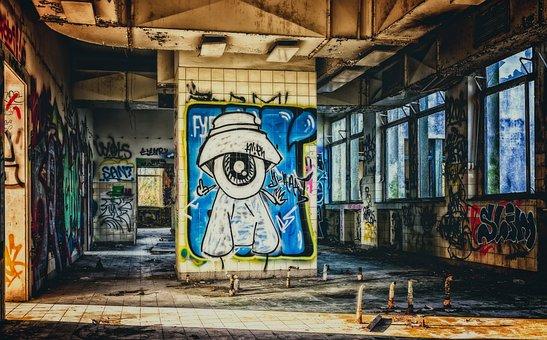 Lost Places, Graffiti, Ruin, Home, Pforphoto, Ailing