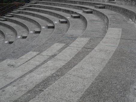 Travel, Road, Stone, Theater, Grey