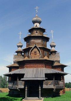 Suzdal, Russia, Wooden Church, Travel, Temple, Religion