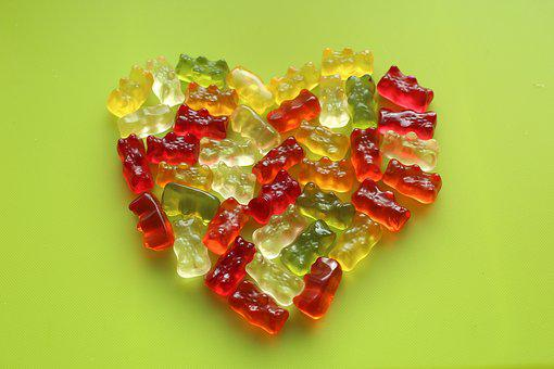 Heart, Jelly Beans, Sweets, Sweet Heart